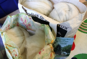 Bags of roving