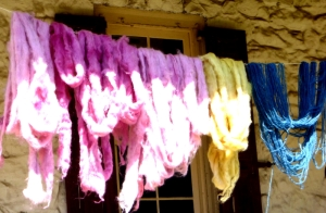 Pink dyed with cochineal beetles