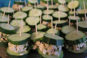 "Chicken salad cucumber ""sandwiches"""